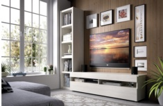 Mueble TV en color polar Nebet