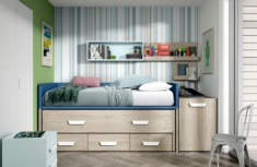 Cama compacta con cama deslizable Holly