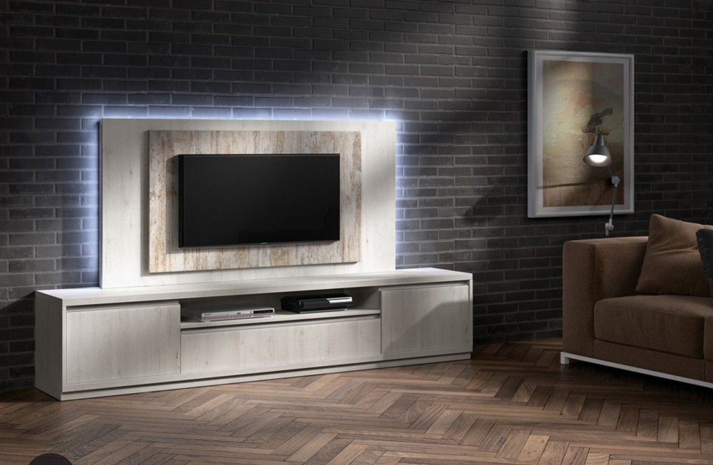 Mueble tv moderno allium - Mueble para tv led ...