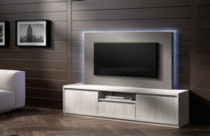 Mueble TV con panel iluminado Fresia
