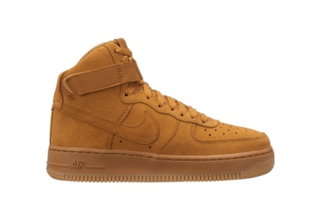 size 40 92833 a4267 NIKE AIR FORCE 1 HIGH LV8 (GS) WHEAT WHEAT GUM LIGHT BROWN