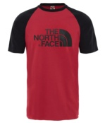 THE NORTH FACE M SS RAGLAN EASY TEE RUMBA RED RUMBA RED