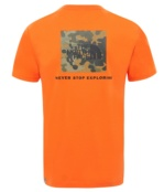 THE NORTH FACE M S/S RED BOX TEE PERSIAN ORANGE PERSIAN ORANGE