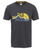 THE NORTH FACE M S/S MOUNT LINE TEE ASPHG/LEOPRDYLW ASPHG/LEOPRDYLW