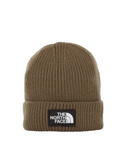 THE NORTH FACE TNF LOGO BOX CUFF BE NEW TAUPE GREEN NEW TAUPE GREEN