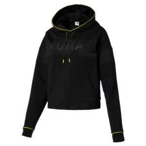 PUMA CHASE HOODY COTTON BLACK