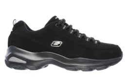 SKECHERS - D'LITE ULTRA - REVERIE BLACK TRUBUCK / SILVER TRIM