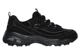 SKECHERS - D'LITES-NEW SCHOOL BLACK MICROLEATHER / RIPSTOP / TRIM