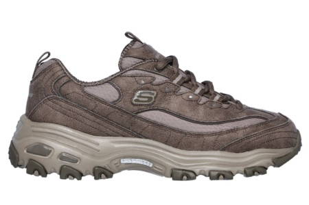 SKECHERS - D'LITES-NEW SCHOOL DARK TAUPE MICROLEATHER / RIPSTOP / TRIM