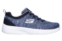SKECHERS - DYNAMIGHT 2.0- IN A FLASH NAVY MESH/ LIGHT PINK TRIM