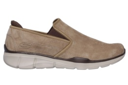 SKECHERS - EQUALIZER 3.0- SUBSTIC BROWN PIG LEATHER/TRIM