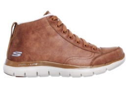 SKECHERS - FLEX APPEAL 2.0- WARM WISHES CHESTNUT MICROLEATHER / OFF WHITE TRIM