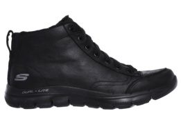 SKECHERS - FLEX APPEAL 2.0- WARM WISHES BLACK MICROLEATHER / TRIM