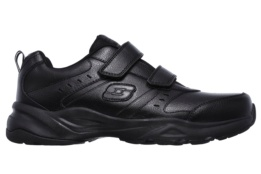 SKECHERS - HANIGER-CASSPI BLACK LEATHER/TRIM