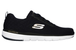 SKECHERS - FLEX ADVANTAGE 3.0- JECTION NAVY & BLACK MESH/BLACK TRIM