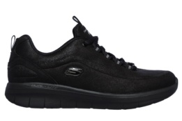 SKECHERS - SYNERGY 2.0 BLACK MICROLEATHER / TRIM