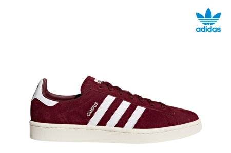 ADIDAS CAMPUS COLLEGIATE BURGUNDY/WHITE