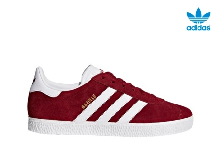 ADIDAS GAZELLE J COLLEGIATE BURGUNDY/WHITE