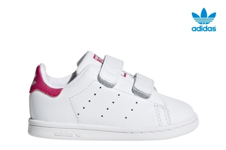 ADIDAS STAN SMITH CF I BLANCO/ROSA