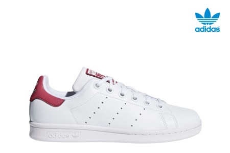 ADIDAS STAN SMITH J BLANCO/BURDEOS