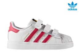 ADIDAS SUPERSTAR CF I BLANCO/ROSA
