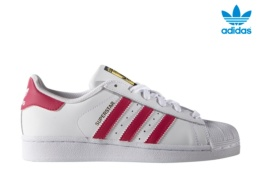 ADIDAS SUPERSTAR FOUNDATION J BLANCO/ROSA