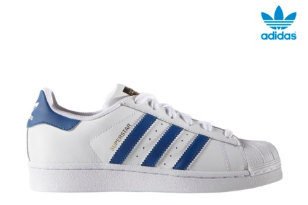 ADIDAS SUPERSTAR FOUNDATION J BLANCO/AZUL