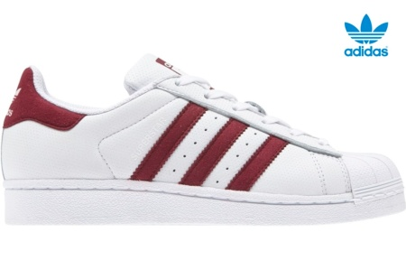 ADIDAS SUPERSTAR J BLANCO/ROSA