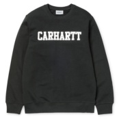 CARHARTT COLLEGE SWEAT BLACK/WHITE