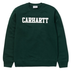 CARHARTT COLLEGE SWEAT PARSLEY / WHITE