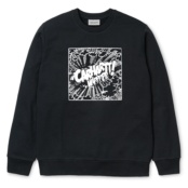 CARHARTT COMIC SWEAT NEGRO/BLANCO