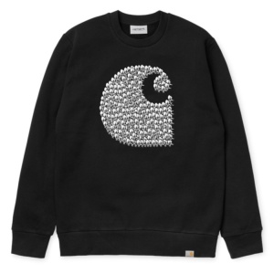 CARHARTT DUCK SWARM SWEAT BLACK
