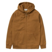 CARHARTT HOODED CHASE HAMILTON BROWN / GOLD