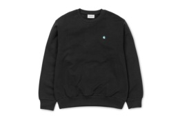 CARHARTT MADISON SWEAT BLACK/SOFT TEAL