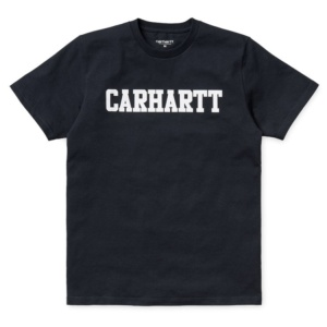 CARHARTT S/S COLLEGE T-SHIRT DARK NAVY / WHITE