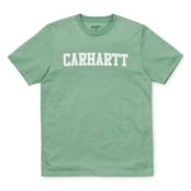 CARHARTT S/S COLLEGE T-SHIRT SOFT GREEN / WHITE