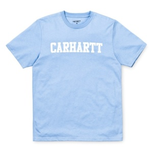 CARHARTT S/S COLLEGE T-SHIRT Soft Blue / White