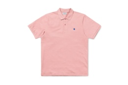 CARHARTT S/S MADISON POLO SOFT ROSE/SAPPHIRE