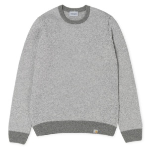 CARHARTT SPOONER SWEATER GREY HEATHER / SNOW
