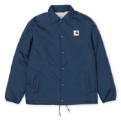 CARHARTT SPORTS PILE COACH JACKET STEEL NAVY / WAX