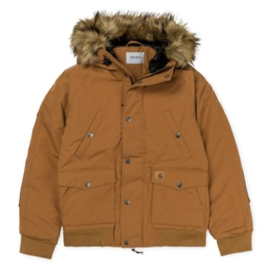 CARHARTT TRAPPER JACKET HAMILTON BROWN / BLACK
