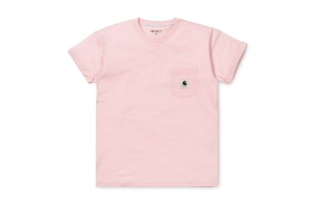 CARHARTT W´ S/S CARRIE POCKET T-SHIRT SANDY ROSE/ASH HEATHER