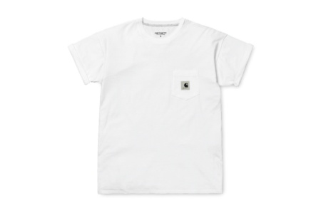 CARHARTT W´ S/S CARRIE POCKET T-SHIRT WHITE/ASH HEATHER