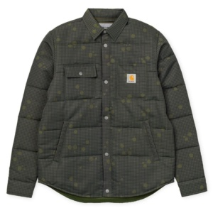 CARHARTT SHELDON SHIRT JAC CAMO NIGHT, COMBAT GREEN