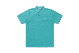 CARHARTT S/S MADISON POLO SOFT TEAL/WHITE