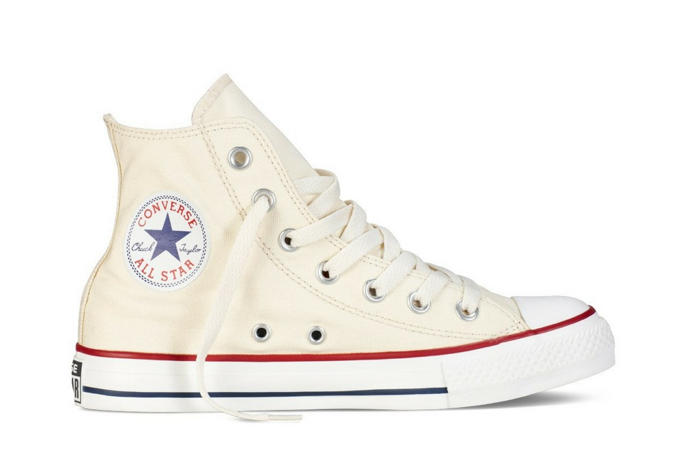 eed2c79361c CONVERSE ALL STAR HI NATURAL WHITE. Zapatillas Converse modelo Chuck Taylor All  Star Hi en color blanco