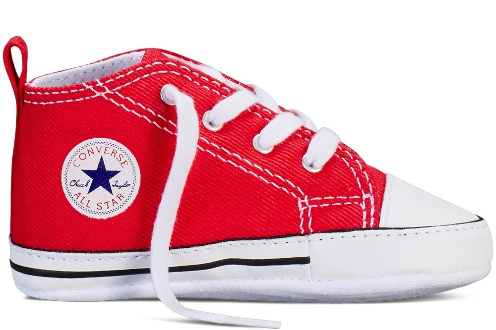 Converse first star hi baby rojo