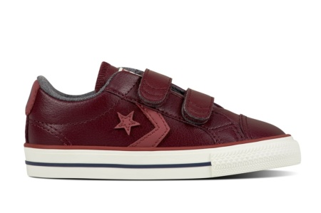 CONVERSE STAR PLAYER EV 2V OX DARK SANGRIA/PORT/EGRET