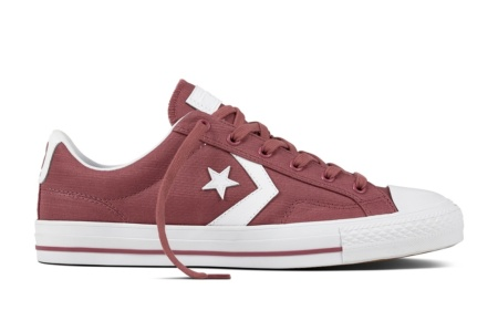CONVERSE STAR PLAYER OX VINTAGE WINE/WHITE/WHITE