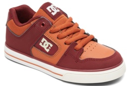 DC SHOES PURE B BURGUNDY/TAN